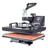 CO-Z Prensa de Calor de 360 Grados 30X38CM Máquina de Transferencia de Calor con Pantalla LED Máquina de Impresión de Calor para Camiseta/Máscara/Bolsa (30x38cm)