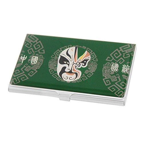 Sourcingmap Chinese opener masker patroon naam kaart box case - groen