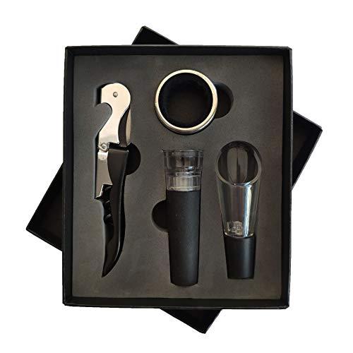 Factory Direct Wijn Opener Set rode Wijn Set Vierdelige Set tiandi Cover Gift Box Alle soorten Sets Zwart Vacuüm Plug Vierdelige Set