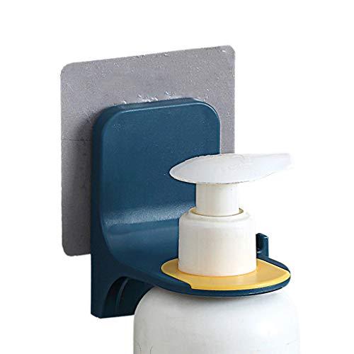 ERUYN Baño montado en la Pared Estante para Botellas de champú Estante para Gel de Ducha Soporte para jabón líquido Azul Profundo
