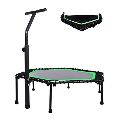 TRAMPOLINE Binnen, 112cm / 126cm Opvouwbare Fitness, Geschikt voor binnen en buiten, Geschikt voor kinderen en volwassenen ouder dan 3 jaar, Laadvermogen: 500 Kg