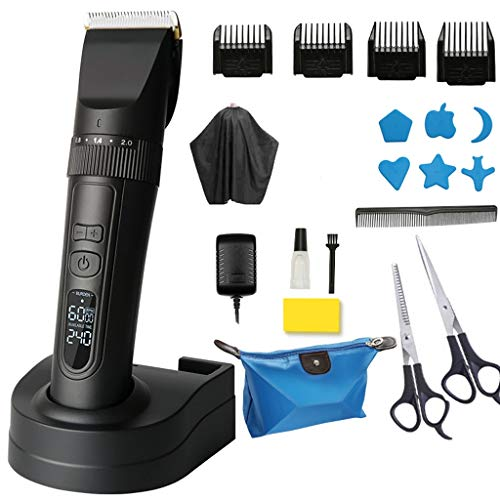 SAP- Tondeuse Electric Clipper Household oplaadbare elektrische Clipper Electric Clipper professionele haar Clipper Artifact duurzaam (Color : Black)