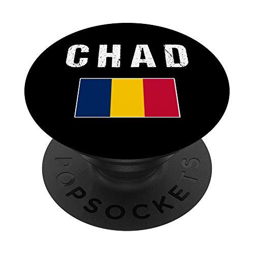 Chad Bandera Chadiano Chad PopSockets PopGrip: Agarre intercambiable para Teléfonos y Tabletas