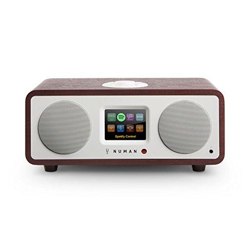 NUMAN Two 2.1 - Radio por Internet , Sintonizador Dab / Dab+ y FM , Spotify Connect , Reproductor CD , Pantalla TFT , WiFi / LAN , Bluetooth , AUX , 2 Altavoces de Banda Ancha , Subwoofer , Marrón