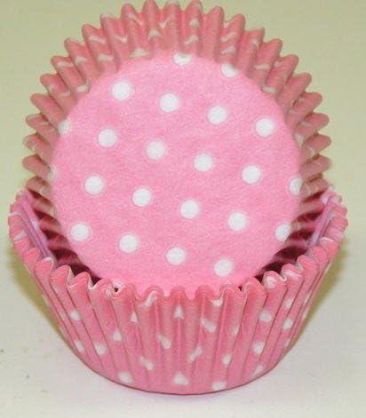 2021 shipfree model CakeSupplyShop Pink with White Polka Cupcake Bakin Dots Liners -