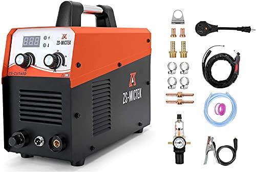 "Plasma Cutter 45Amps 110/220V Dual voltage IGBT Inverter Air Plasma Cutting 1/2"" Clean..."