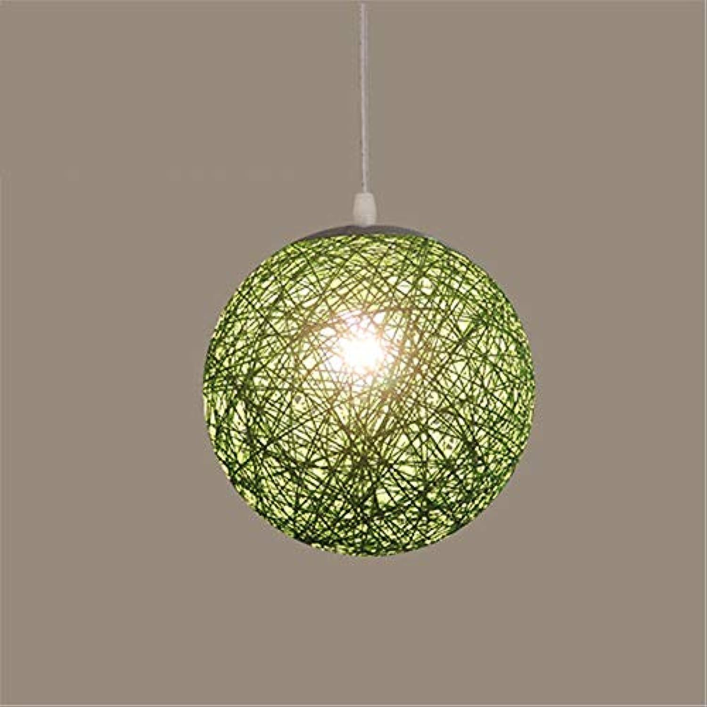 Rattan Art Ball Kreative Verjüngung Balkon Daisy Lampe 30 Cm Grüne Decke Pendelleuchte Für Bar Cafe Restaurant Schlafzimmer Wohnzimmer Esszimmer Küche
