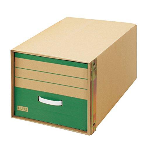 プラス ダンボールキャビネット 再生紙 積み重ねタイプ A4判用 88-048