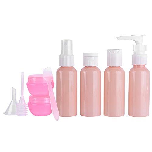 KEYREN Juego de Botellas de Maquillaje de 9 Piezas Kit de Viaje Contenedor de Crema de loción de champú en Aerosol Reutilizable portátil vacío