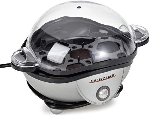 Gastroback 42801 Design Eierkocher, für bis zu 7 Eiern, inklusive Wassereinfüllbecher mit Skala (für weiche oder Harte Eier) und Eierstecher, 350 Watt, Plastik, 7 Unknown_Modifier