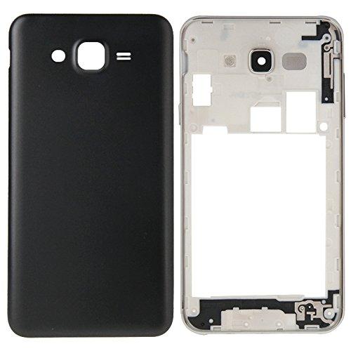Hongmeish Sustituto de Partes Antiguas o Malas. Reemplazo IPartsBuy Completa Tapa de la Carcasa (Carcasa Intermedia Bazel + batería Cubierta Trasera) for Samsung Galaxy J7 Accesorios (Color : Black)