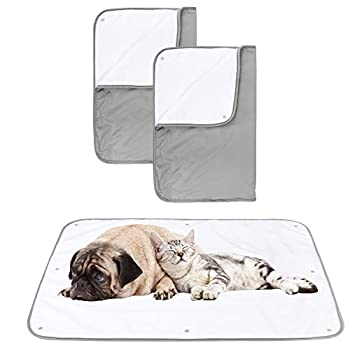 Paw Legend Washable Pee Pads for Dogs - Multiple Sizes Washable Reusable Dog Pee Pads Blanket for Couches,Sofa,Bed and Car   Pet Fleece Incontinence Blanket Pad for Dogs,Puppies,Cats  Grey Color