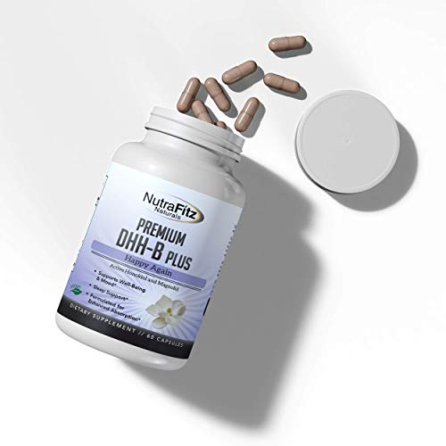 DHH-B Supplement - Bioactive Honokiol Magnolia bark Extract | for Stress, Anxiety, Depression Relief, Sleep Aid | Organic Ashwagandha & Herbs, High Strength 60 Vegan Capsules, 2 Month Supply, Non GMO