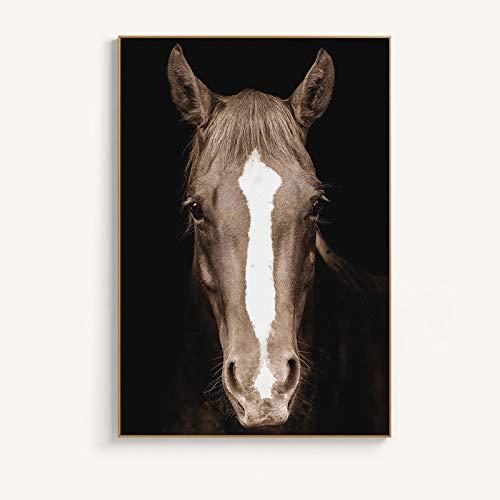 Sanzangtang Modern Art Poster en digitale print op canvas kunst schilderij paardenhoofd woonkamer decoratief schilderij frameloos