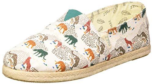 Paez Damen Classic Print Cheeta Espadrilles, Weiß (Cheetah White 021), 38 EU