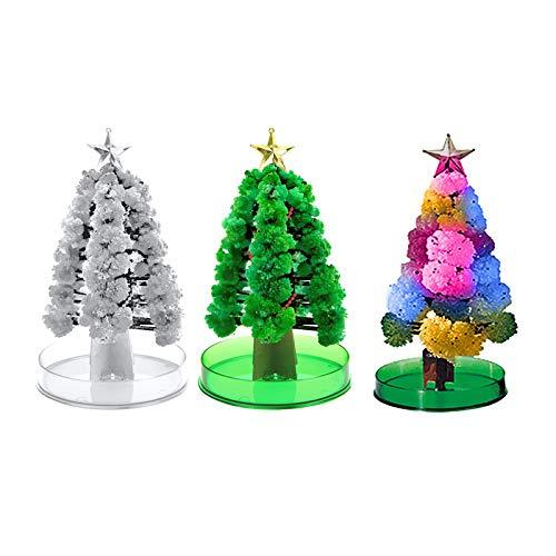 Eariy DIY handgefertigter Weihnachtsbaum aus Papier, bunt, magisch wachsende Kristallbäume, blühendes Spielzeug, ideal für Jungen und Mädchen, Ornamente, für Kinderpartys