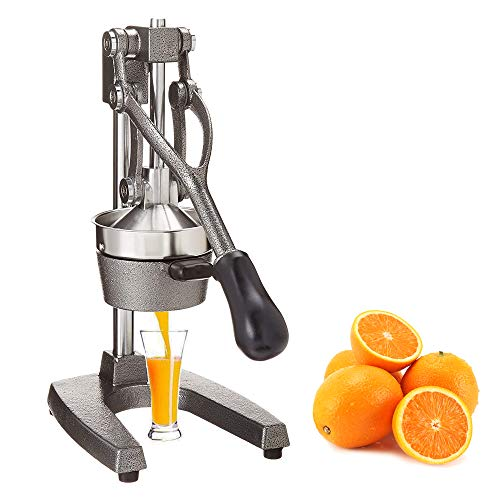 Switol Manual Citrus Juicer, Commercial Hand Orange juice Squeezer, Suitable for Many Fruit such as Lemon, Lime, Grapefruit, Pomegranate,Ideal Christmas Gifts for Women and Men (Gray)