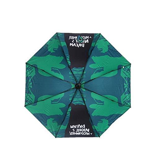 YNHNI Faltschirme Sonnenschirme Sonnenschirm Regenschirm Triple Folding Verdickung Anti-Ultraviolett Sonnenschutz Mode Bewehrung Solar Regenschirm Heute,tragbar (Color : Midsummer Night Dream)