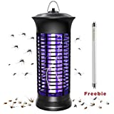 HUNTINGOOD Electric Bug Zapper, Mosquito Killer with Instant Killing Effect,Mosquito Zapper with Replacement Bulb Included,Portable Standing or Hanging for Indoor