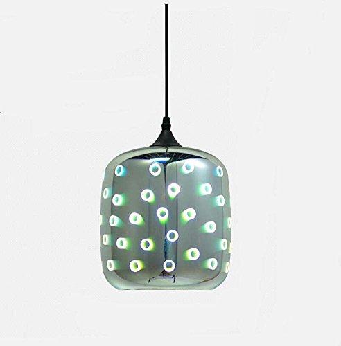 Lampadario in vetro colorato 3D Lampadario industriale moderno Bar ristorante creativo Studio illuminazione decorativa Fuochi d'artificio Effetto Sorgente luminosa E27 * 1 (Lampadine non incluse) GJX