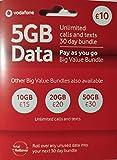 Vodafone Pay as You go Tri Tarjeta SIM con el estándar, Micro y Nano Adaptadores