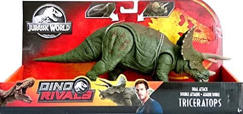 Jurassic World GDT42 - Dino Rivals Doppel-Attacke Triceratops, Spielzeug ab 4 Jahren