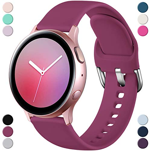 Dirrelo Sportarmband Kompatibel mit Samsung Galaxy Watch Active/Active 2 40mm/44mm, Wasserdicht Silikon Ersatzband Uhrenarmband für Galaxy Watch 42mm/Gear Sport/S2 Classic, Fuchsia S