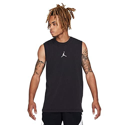 NIKE J Dry Fit Airls Camiseta, Blanco/Negro, XL para Hombre