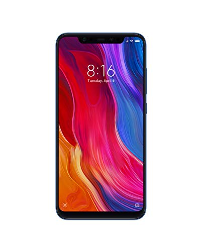 Xiaomi Mi8 - E1with 6GB RAM and 64GB Storage 6.21-Inch Android 8.1 UK Version SIM-Free Smartphone - Blue (Official UK Launch)