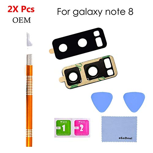 oGoDeal OEM Rear Camera Glass Lens Cover Replacement Compatible with Samsung Galaxy Note 8 with Tools Fast and Easy Repair