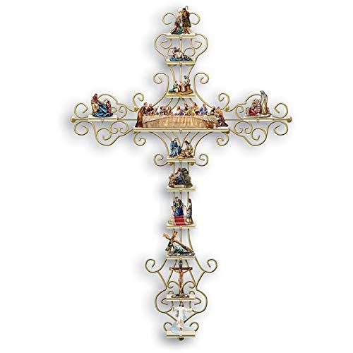 SDLAJOLLA Adesivo de cruz, Coleção A Vida de Cristo Adesivo de parede Cruz Decalque Religioso Bíblia Acessórios e Presentes Cristãos