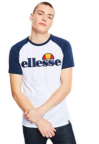 ellesse T-Shirt Piave pour Homme M Blanc chiné