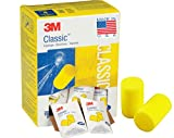 3M Classic Earplugs, Disposable, Pillow Pack, Ear Plugs for Sleeping, Snoring, Drilling, Grinding, Machining, Sawing, Sanding, Welding, 1 Pair/Pillow Pack, 30 Pair/Box