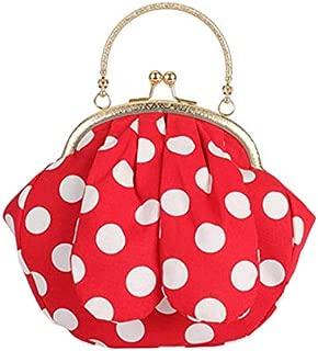 TOOGOO Ladies Wave Rabbit Ears Handbags Dot Print Crossbody Bag Shoulder Messenger Bag Black