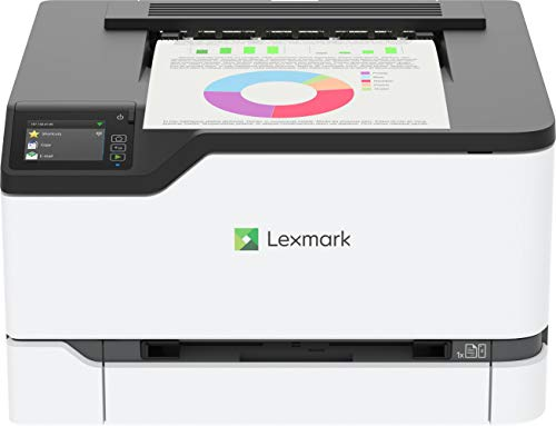 Lexmark C3426dw Color Laser Printer with Interactive Touch Screen, Full-Spectrum Security and Print Speed up to 26 ppm (40N9310),White,Small