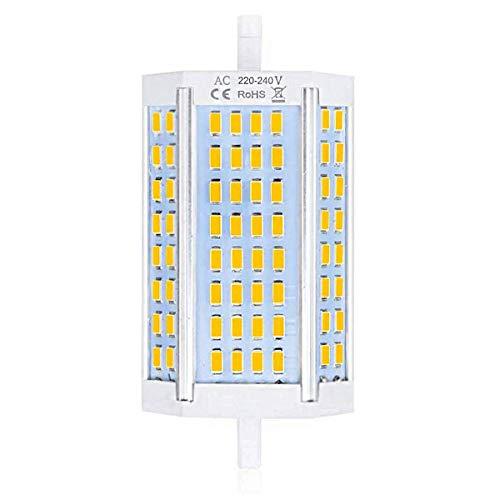 Luxvista R7S 30W J118 - Bombilla LED regulable, doble extremos, foco 118 mm, equivalente 300-350 W R7S, bombilla halógena de luz de día, 4000 K (lote de 1)