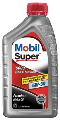 Price comparison product image Mobil Super 5W30 Motor Oil,  1 Quart - 6 per case.