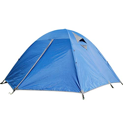 Camping Tents, 3-4 Person Outdoor Dome Tent | Family Thicken Defense Rainstorm Tent | Camping For Hiking, Blue