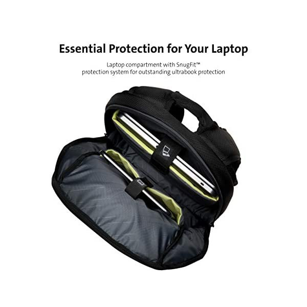 41Mds7aE36L. SS600  - Kensington K62591EU - Mochila Triple Trek Optimizada para Ultrabook, Negro, 43 cm