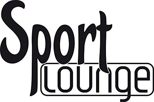 GRAZDesign Wandtattoo Sport Lounge Wand-Deko für Sportraum Sportler Motivation, Fitness, Fitnessraum (85x57cm//070 schwarz)