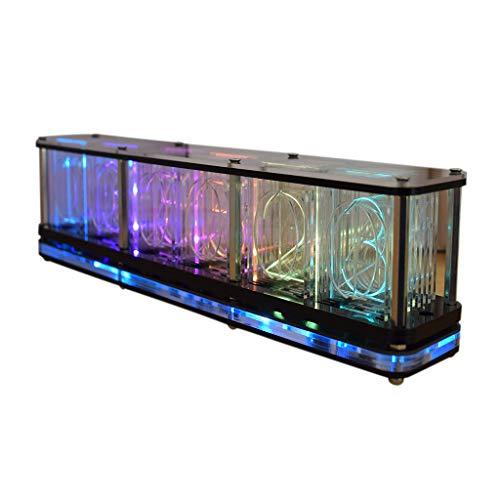 Mcbeitrty Múltiples estilos de pantalla a todo color RGB resplandor tubo reloj LED espectro de música DIY atmósfera kits decoración regalo