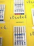 SCHMETZ 25 agujas para máquina de coser, pistón plano, 130/705 H-S Stretch (grosor 75 y 90)