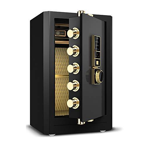 FREIHE Elektronischer Safe Sicherheit Große Kapazität hohe Sicherheit alle Stahl Biometrische Fingerprint LED Anzeige für Home Office Hotel Schmuck Gun Cash Medikamente, Black