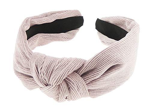 Damen Mädchen Winter Cord Drapé Top Knoten Stirnband Haarreif