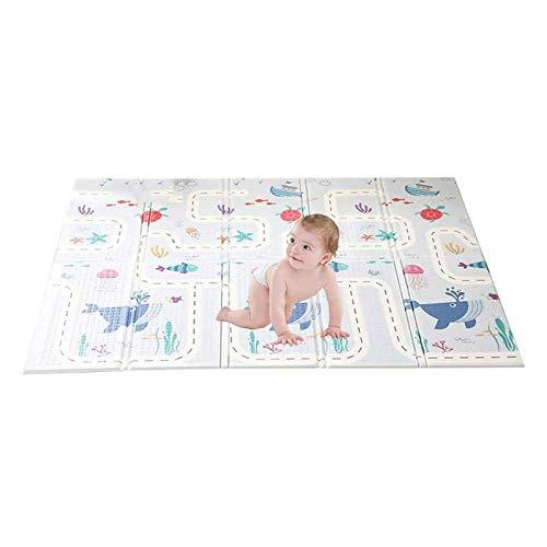 YWAWJ Puzzle Juego Mats Kids' Alfombras bebé estera del juego del bebé tapetes for jugar, a prueba de agua del bebé estera del piso, Xpe gruesa colchoneta de espuma de 1,5 cm de arrastre, la aptitud Y