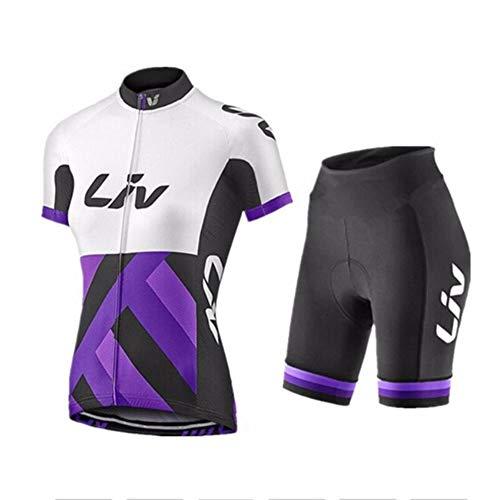 Hplights Maillot Ciclismo Mujer Cclismo Conjunto de Ropa + Culote Pantalones Acolchado...
