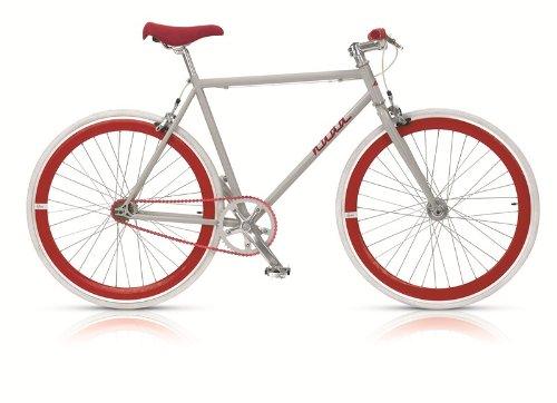 Bicicletta uomo a scatto fisso ruota colorata 28' nuda rossa MBM