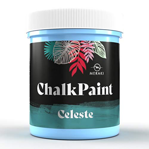 CHALK PAINT Pintura efecto tiza al agua mate (500ML, CELESTE)