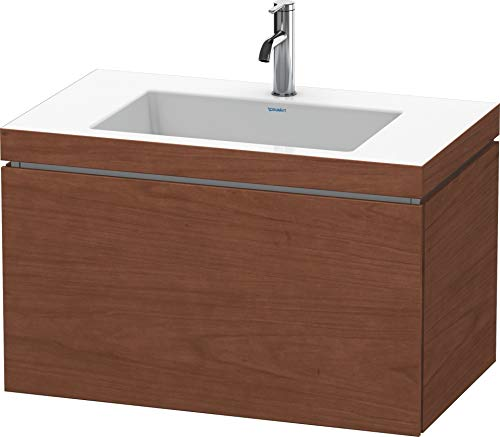 Duravit Duravit Waschtischunterbau L-CUBE mit Waschtisch Vero Air, 500 x 800 x 480 mm 1 Hahnloch amerikanisch nussbaum