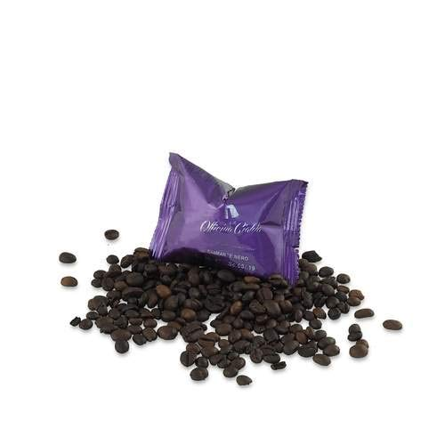 ODC Capsule caffè compatibili con macchina da Caffè sistema Nespresso kit formato da 100 cialde caffè miscela Nera Diamante intensità 11 con chiusura salva freschezza MADE IN ITALY